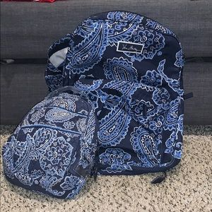 VERA BRADLEY BACKPACK AND LUNCH BOX SET